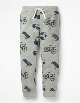 Grey Marl Day Out Printed Joggers