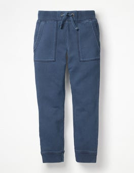 College Blue Garment-dyed Joggers