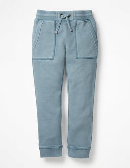 Tin Blue Garment-dyed Joggers