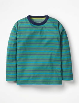 Rosemary Green/Electric Blue Supersoft T-shirt
