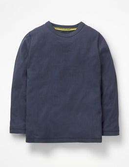 Navy Meliert Superweiches T-Shirt