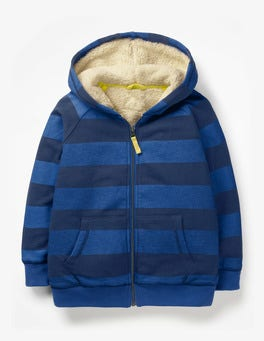 Duke Blue/College Blue Shaggy-lined Zip-up Hoodie