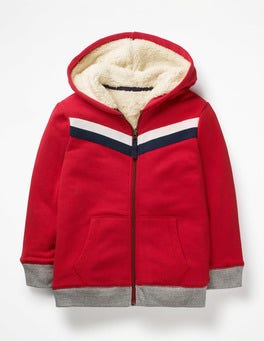 Rockabilly Red Shaggy Zip-Up Hoodie