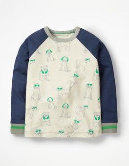 Printed Raglan T-shirt