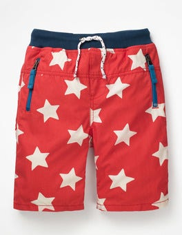Beam Red/Ecru Star Adventure Shorts