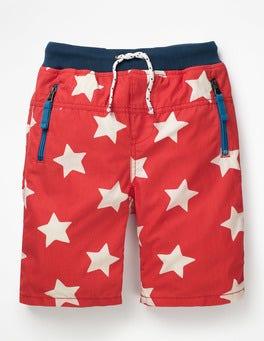 Beam Red/Ecru Star Adventure Shorts