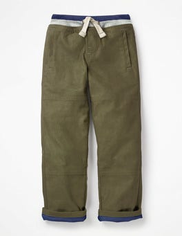 Army Green Lined Mariner Trousers