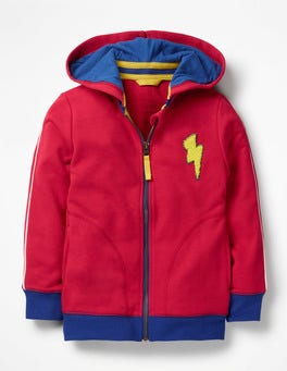 Sail Red Hooded Bomber Jacket