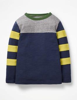 Lagoon Blue Sporty Colourblock T-shirt