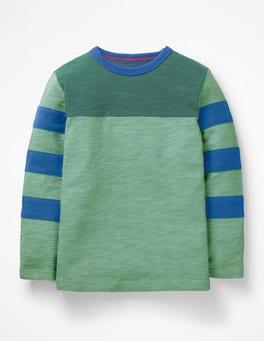 Patina Green Sporty Colourblock T-shirt