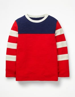 Beam Red Sporty Colourblock T-shirt