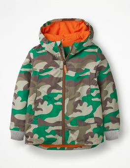 Watercress Green Camouflage Shower Resistant Anorak