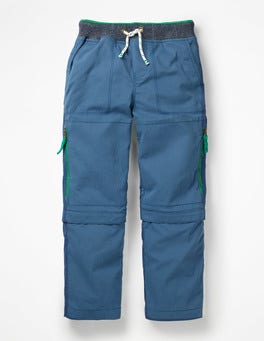Lagoon Blue Zip-off Techno Trousers