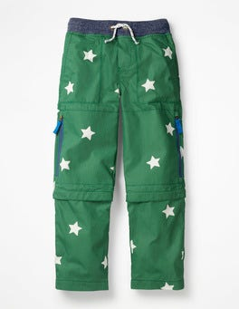 Rosemary Green Star Zip-off Techno Pants
