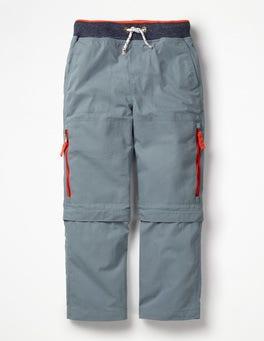 Bleu étain Pantalon technique zippé