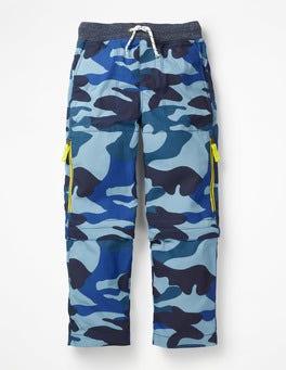 Dunkelblau, Camouflage Hose mit abnehmbaren Beinen