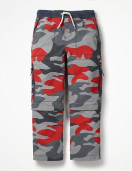 Beam Red Camouflage Zip-off Techno Pants