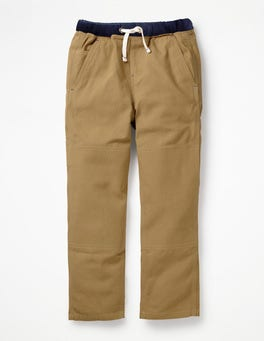 Chino Brown Pull-On Carpenter Trousers
