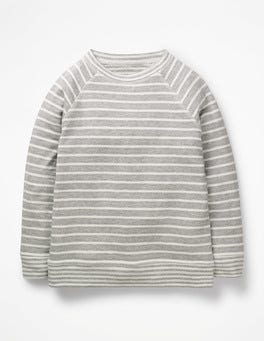 Grey Marl/Ecru Double Layer T-shirt