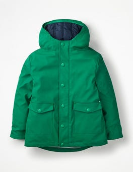 Watercress Green Waterproof 3-in-1 Raincoat