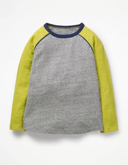 Grey Marl/Celery Yellow Raglan T-shirt