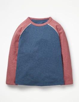 Lagoon Blue Marl Raglan T-shirt
