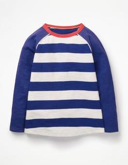 College Blue/Ecru Raglan T-shirt