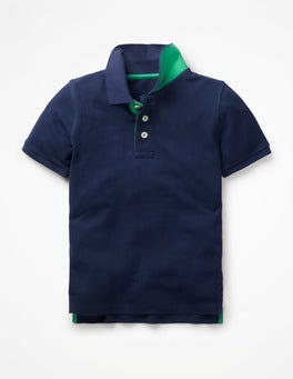 College Blue Piqué Polo Shirt