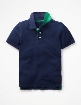 Dunkelblau Piqué-Poloshirt