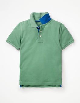 Patina Green Piqué Polo Shirt