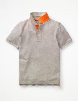Grey Marl Piqué Polo Shirt