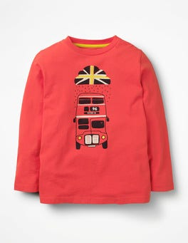 Beam Red Bus British Weather T-shirt