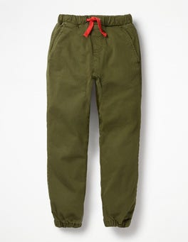 Ghillie Green Garment-dyed Slouch Trousers