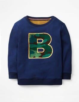 College Blue Bouclé B Cosy Textured Sweatshirt