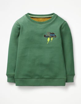 Rosemary Green Cloud Cosy Textured Sweatshirt