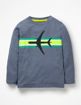 Violet Grey Plane Sporty Stripe T-shirt