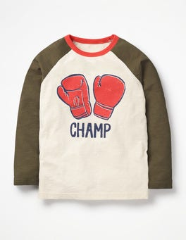 Ecru Boxing Gloves Super Raglan T-shirt