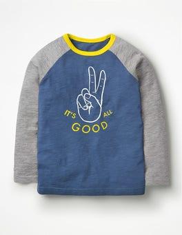Lagoon Blue It's All Good Super Raglan T-shirt