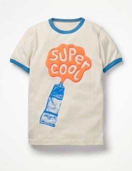 Ecru Super Cool Paint Tube Paint Splash T-shirt