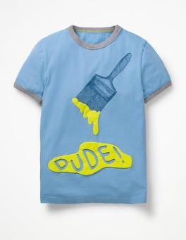 Lake Blue Dude Paint Splash T-shirt