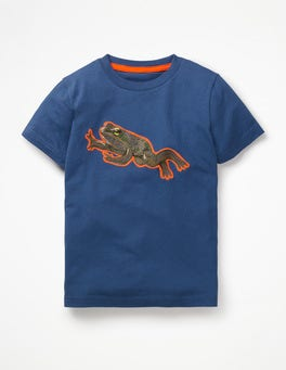 Lagoon Blue Frog Pop Superstitch T-shirt