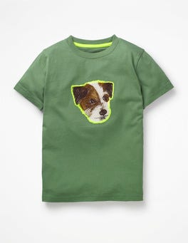 Rosemary Green Sprout Pop Superstitch T-shirt