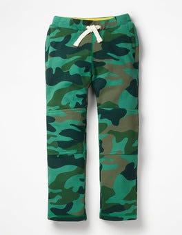 Khaki Green Camo Warrior Knee Sweatpants