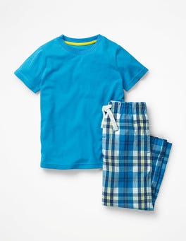 Caspian Blue Check Pyjama Set
