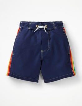 Dunkelblau, Regenbogen Pool-Shorts