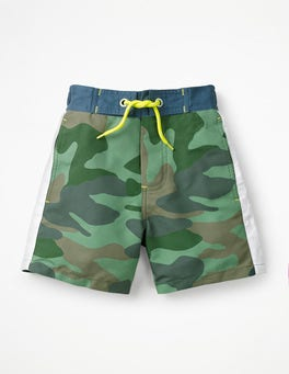 Rosemary Green Camouflage Poolside Shorts