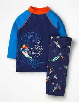 College Blue Surfers Surf Suit