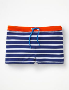 College Blue/Ivory Swim Trunks