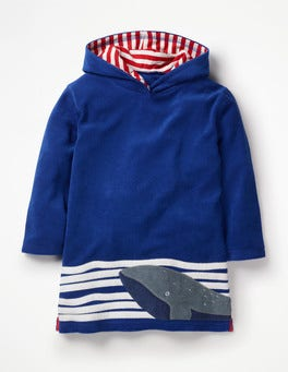 Duke Blue Whale Appliqué Towelling Throw-on