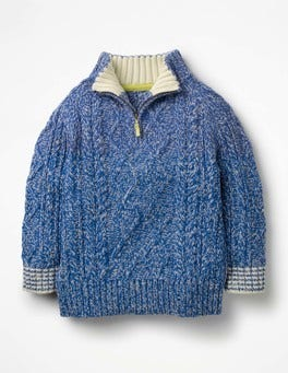 Elizabethan Blue Half-zip Sweater